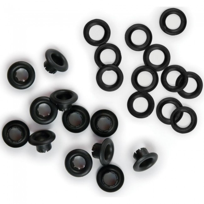 Eyelets & Rondelles Noirs 5 mm