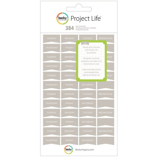 Project Life Jours Gris -40% PROMO
