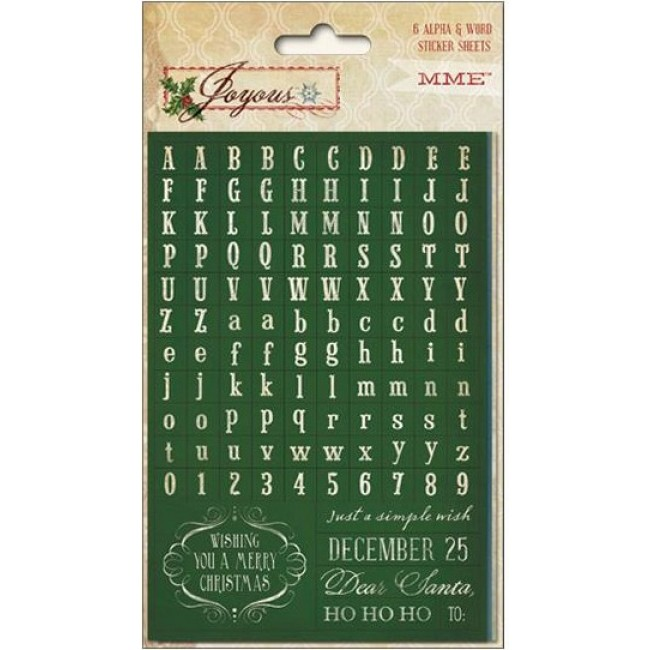 Autocollants Alphabets Joyous Alpha & Word Stickers -20% PROMO
