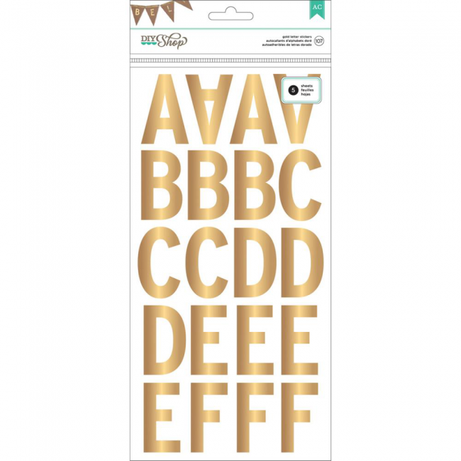Autocollants Alphabets Subway/Gold Alpha Stickers -20% PROMO