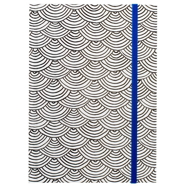 "Scallop Blue Small Notebook 5"" x 7"""