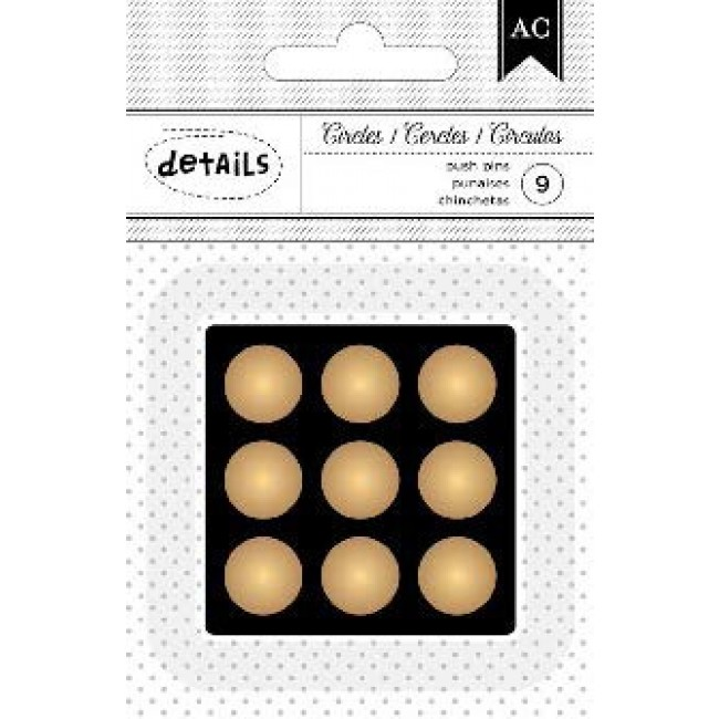 Gold Circles Push Pins