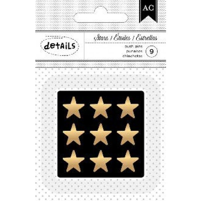 Gold stars Push Pins