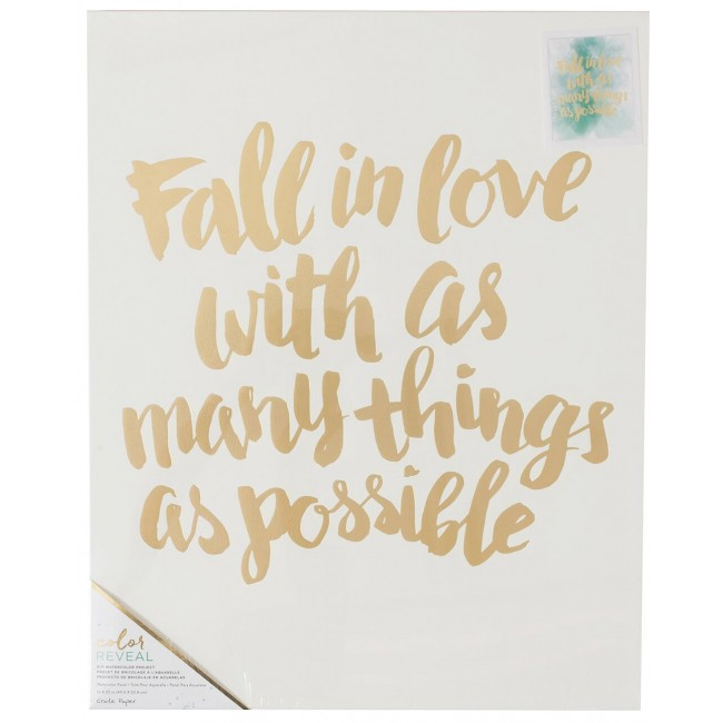 Toile 16x20 Color Reveal - Fall In Love
