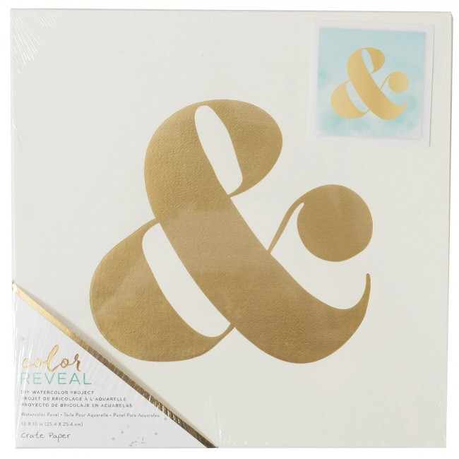 Toile 10x10 Color Reveal - Ampersand Symbol