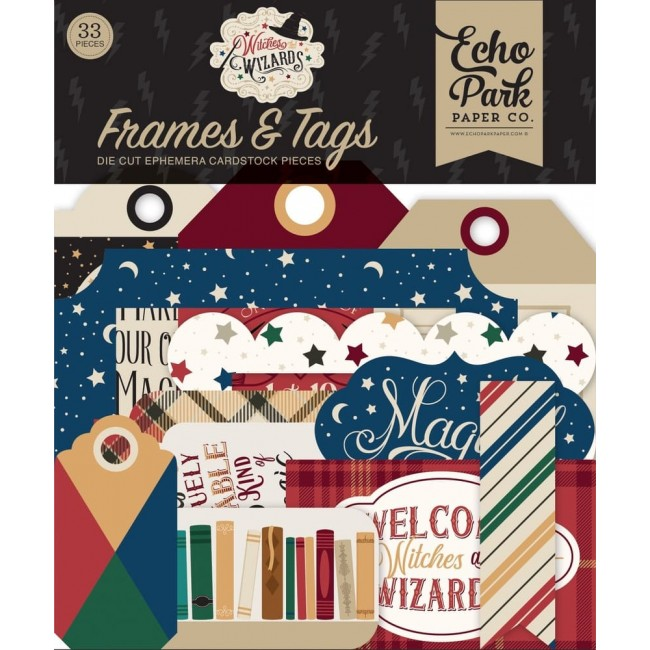 Die Cuts Witches & Wizards Frames & Tags