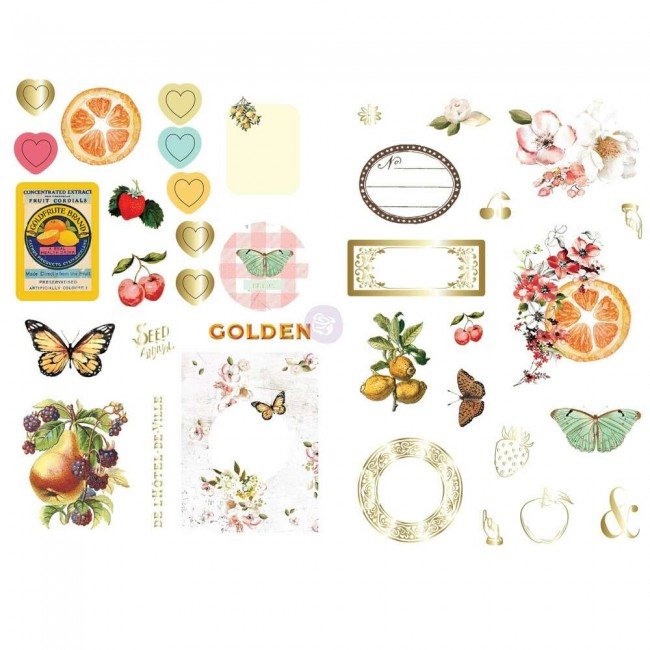 Die Cuts Fruit Paradise Ephemera et autocollants