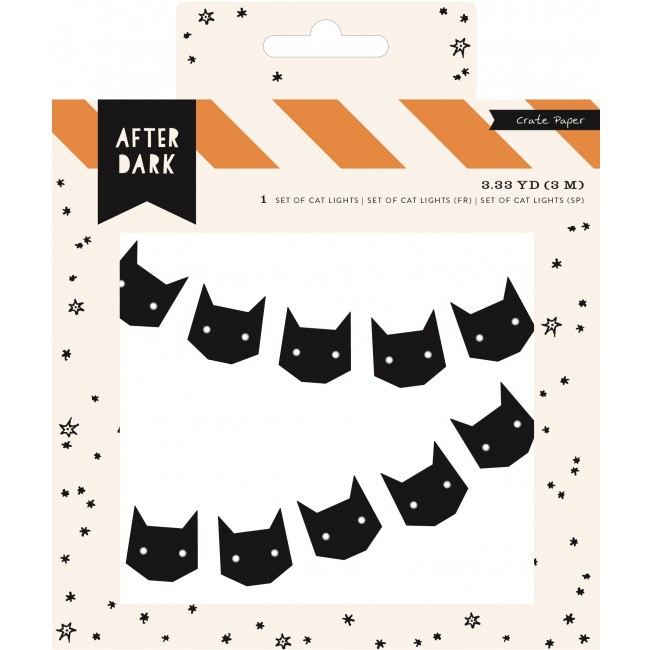 Black Cats Set of cat Lights -50% PROMO