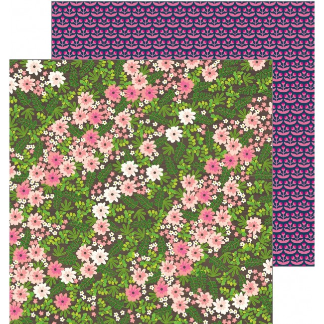 Papier Imprimé Recto-verso 12x12 - Patio Party - Wandering Wildflowers
