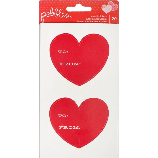 To/From Heart Accent Stickers Be Mine