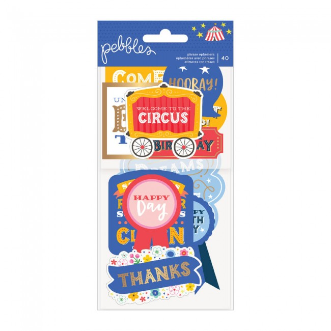 Die Cuts Big Top Dreams Phrase Ephemera