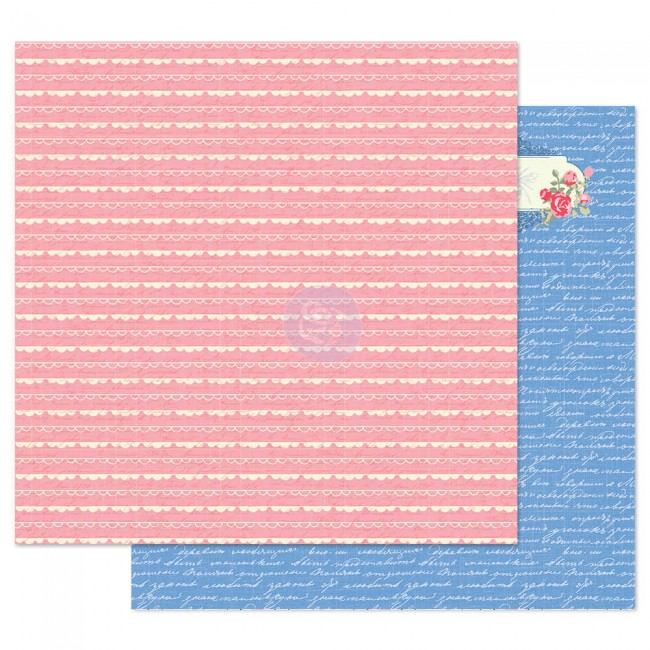 Papier Imprimé Recto-verso 12x12 Traveling Girl Lovely Borders