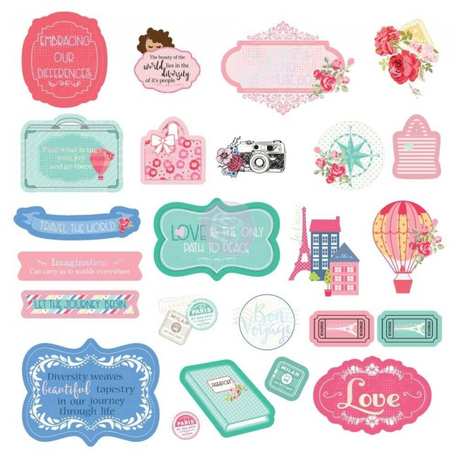 Die Cuts Traveling Girl Shapes