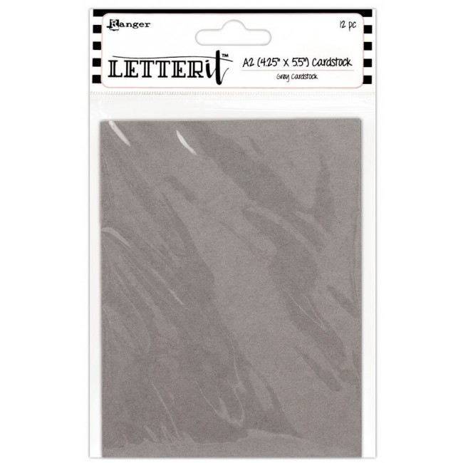 Set Papier Cartonné 4x5 - Letter It - Grey