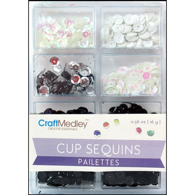 Black & White Classic Cup Sequins