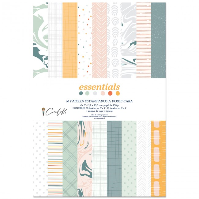 Stack Papiers Imprimés 6x8 Essentials Project Life