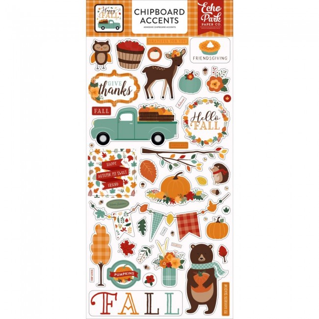 Chipboard 6x13 Happy Fall Accents