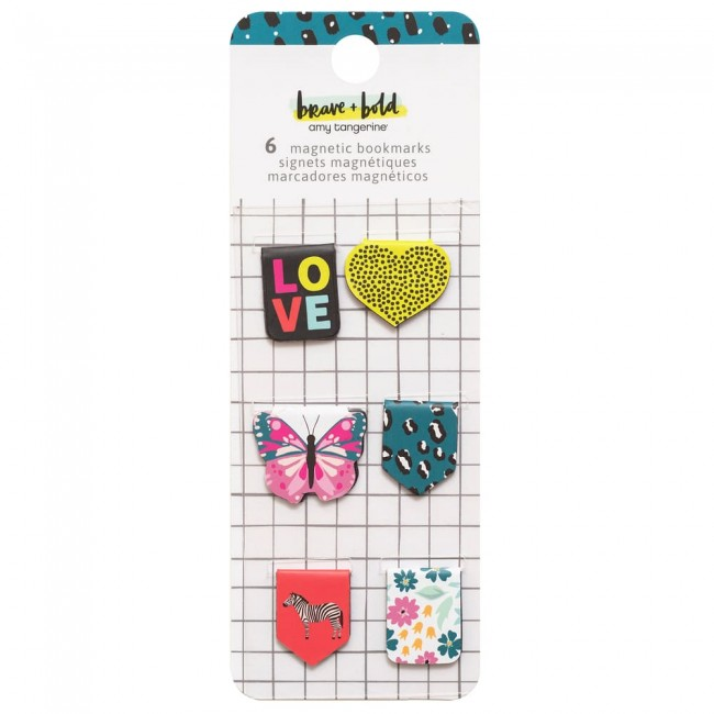 Clips Brave + Bold Amy Tangerine Magneticos