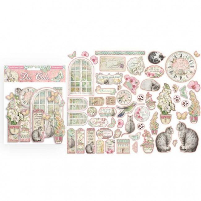 Die Cuts Orchids and Cats