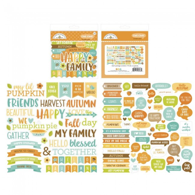 Die Cuts Pumpkin Spice Odds & Ends Chit Chat