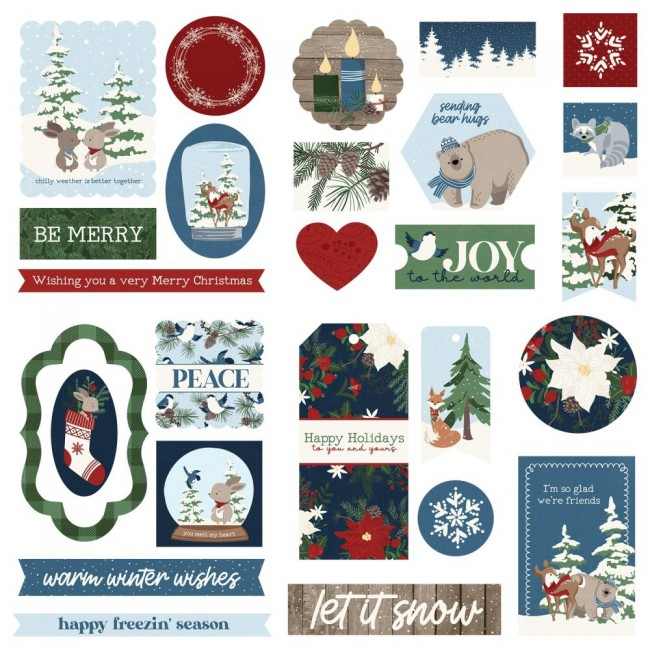 Die Cuts Winter Memories frames & tags