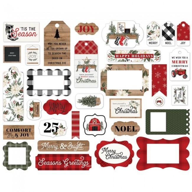 Die Cuts Farmhouse Christmas Frames & Tags
