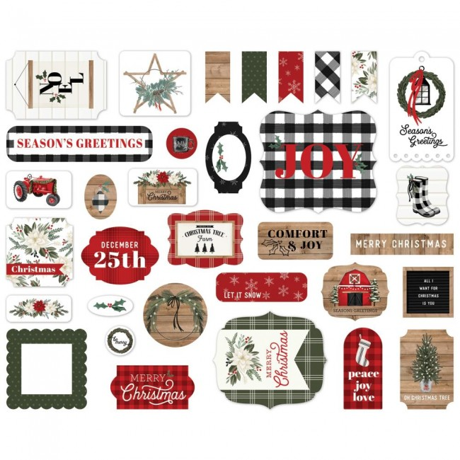 Die Cuts Farmhouse Christmas Icons