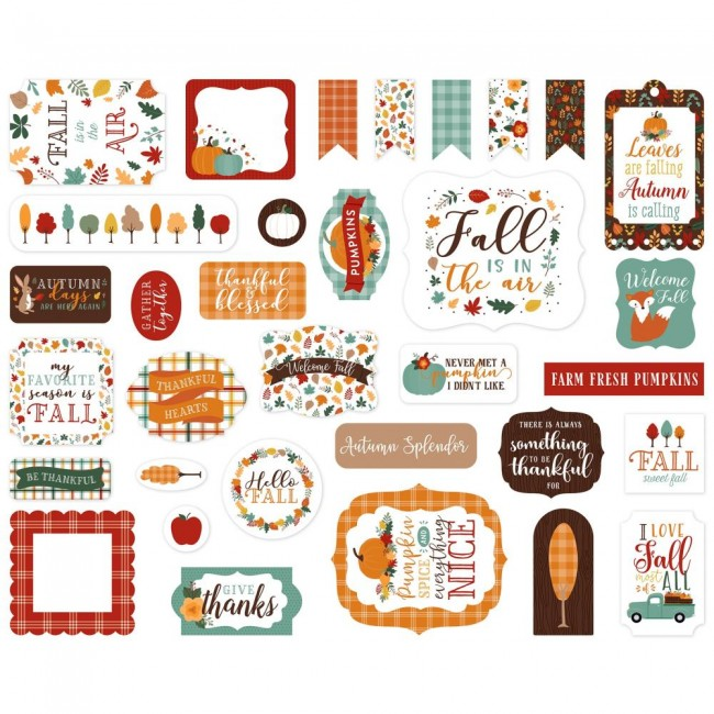 Die Cuts Happy Fall Icons