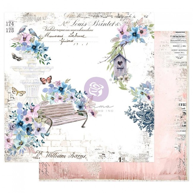 Papier Imprimé Recto-verso 12x12 Watercolor Floral Watercolor Cards