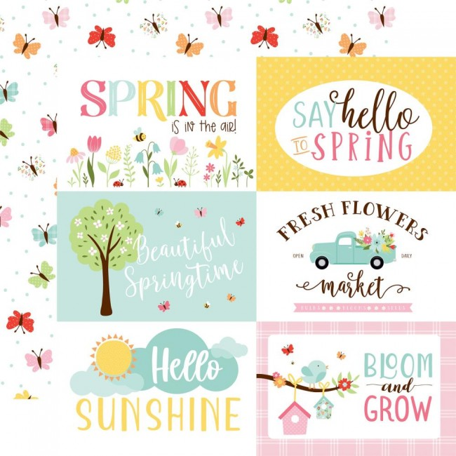 "Papier Imprimé Recto-verso 12x12 Welcome Spring 6""X4"" Journaling Cards"