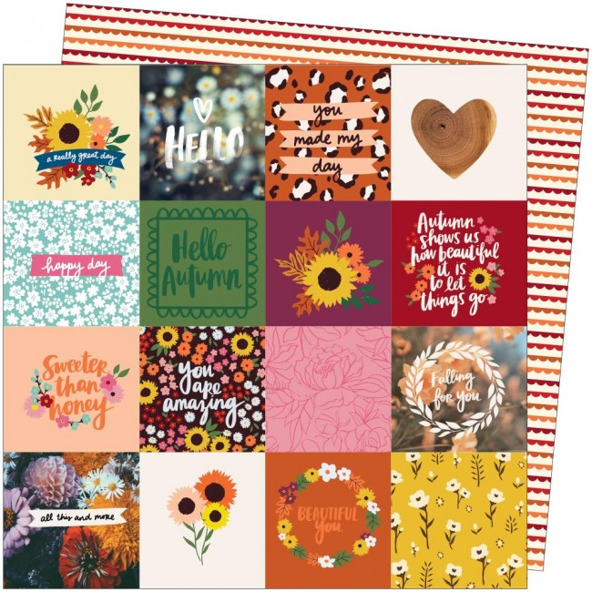 Papier Imprimé Recto-verso 12x12 Late Afternoon Amy Tangerine All This And More