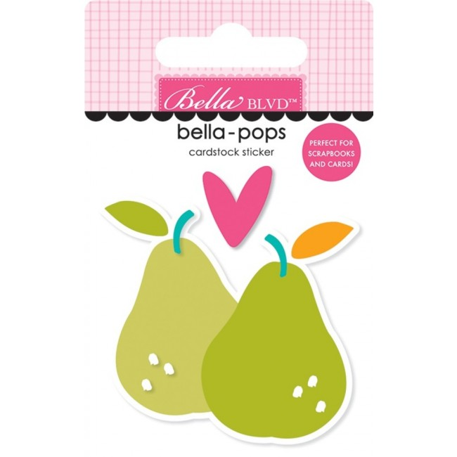Autocollants 3D Squeeze The Day Pearfect