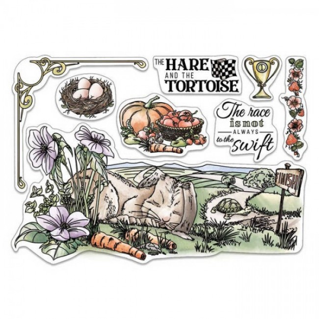 Tampon Acrylique 6x8 Aesop's Fables The Hare and the Tortoise