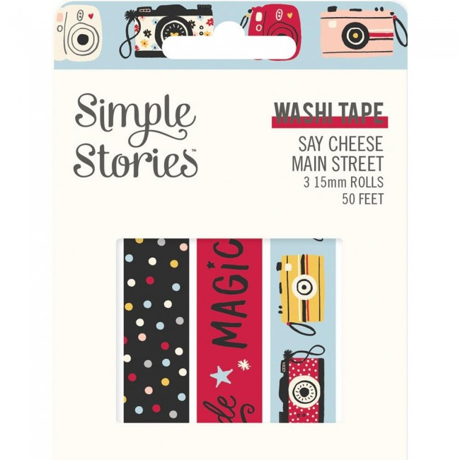 Lot de Washi Tape Say Cheese Main Street