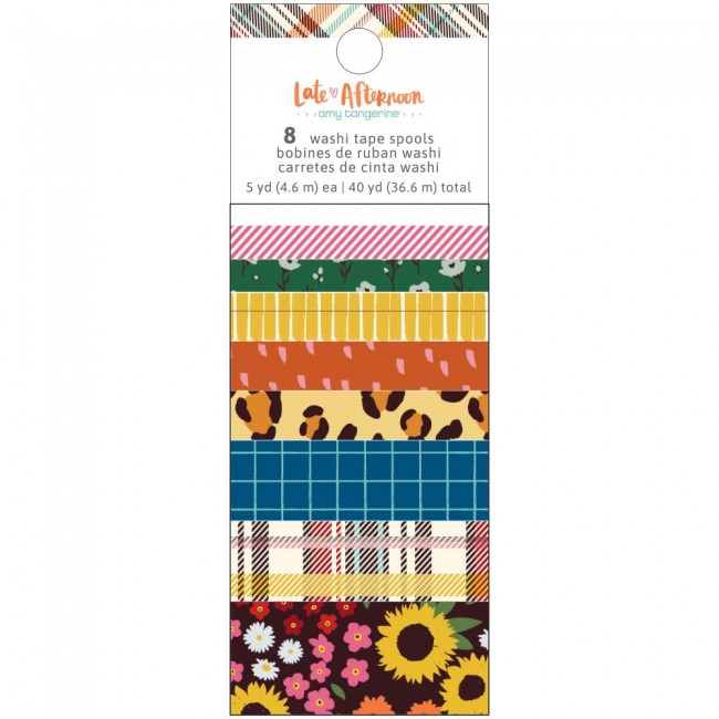 Lot de Washi Tape Late Afternoon Amy Tangerine