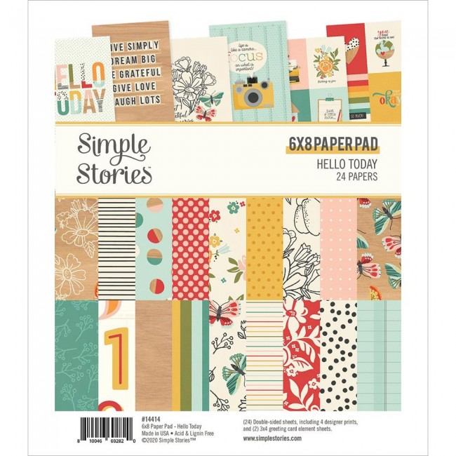 Stack Papiers Imprimés 6x8 Hello Today
