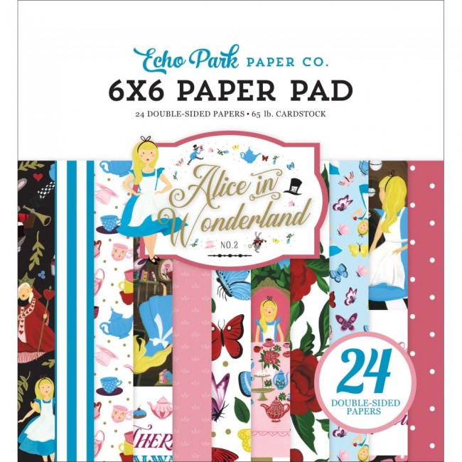Stack Papiers Imprimés 6x6 Alice In Wonderland No. 2