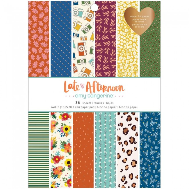 Stack Papiers Imprimés Recto 6x8 Late Afternoon Amy Tangerine