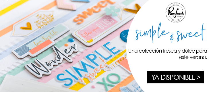 Colección Scrapbooking Simple & Sweet de Pinkfresh Studio
